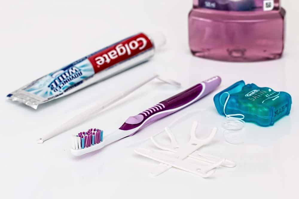 Tooth brush, toothpaste, and dental flossing tools